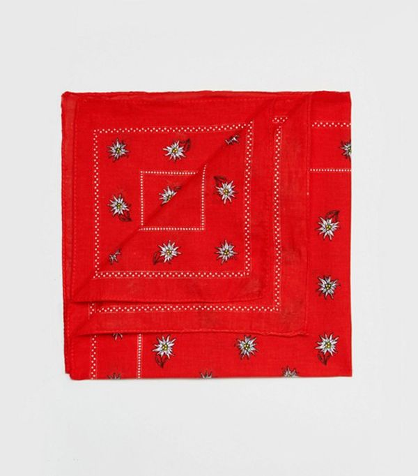How to Wear a Scarf: Reclaimed Vintage Inspired Daisy Print Bandana