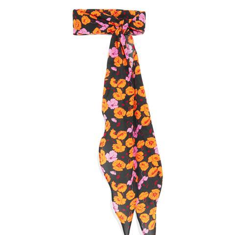 Hubei Floral-Print Silk-Crepe Scarf