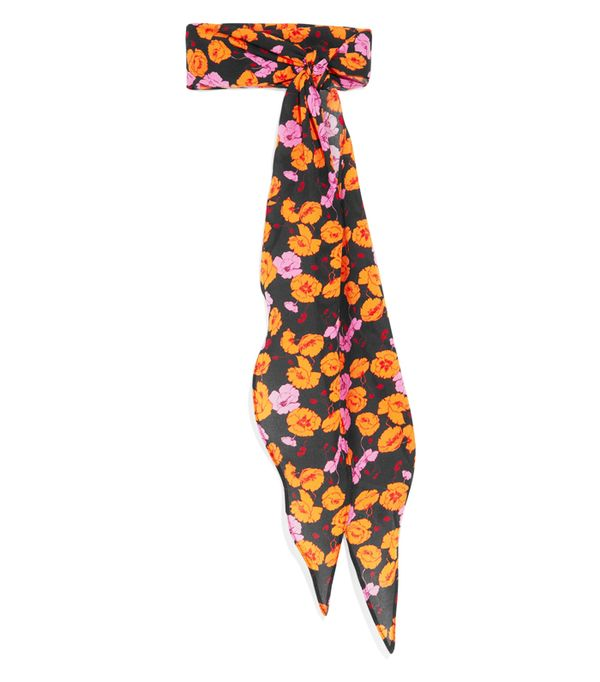 How to Wear a Scarf: Magda Butrym Hubei Floral-Print Silk-Crepe Scarf