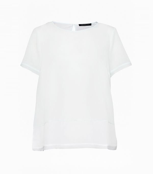 Best t-shirt brands: French Connection Crepe Light Colour Block T-shirt