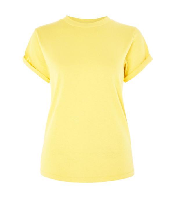 Topshop Roll Sleeve T-Shirt