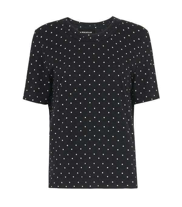 Whistles Spot Rosa Double Trim T-Shirt