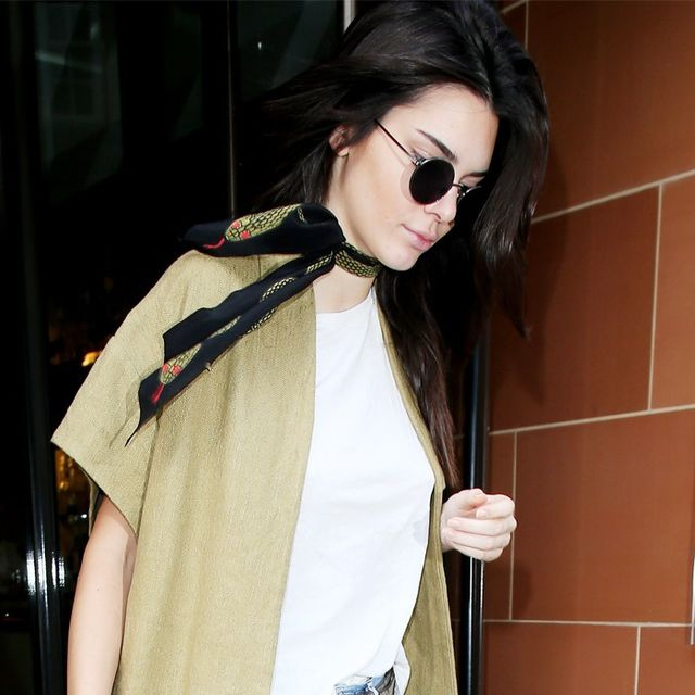 Kendall Jenner's Fast Trick for Upgrading Jeans and a Tee