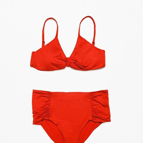 Triangle Bikini Top With Crossover Detail