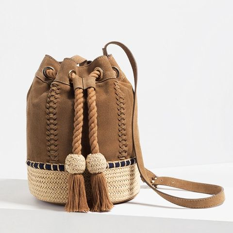 Leather Bucket Bags With Cord