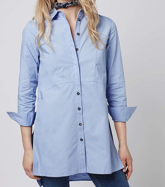 Longline Poplin Shirt