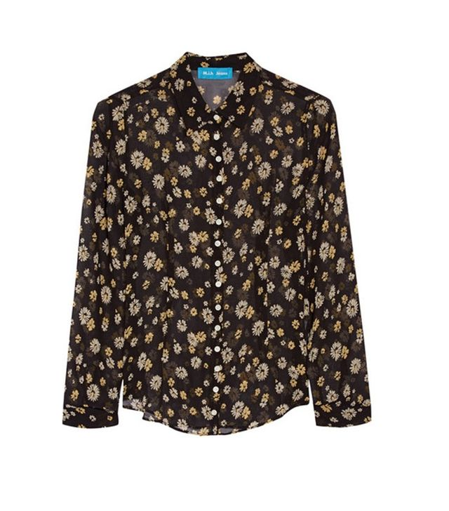 M.i.h Jeans Printed Silk-Georgette Shirt