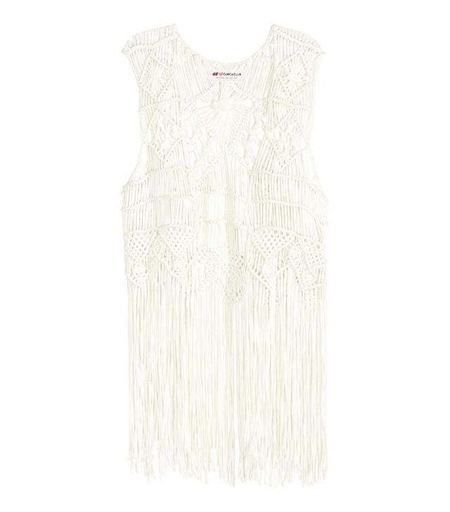 H&M Fringed Waistcoat