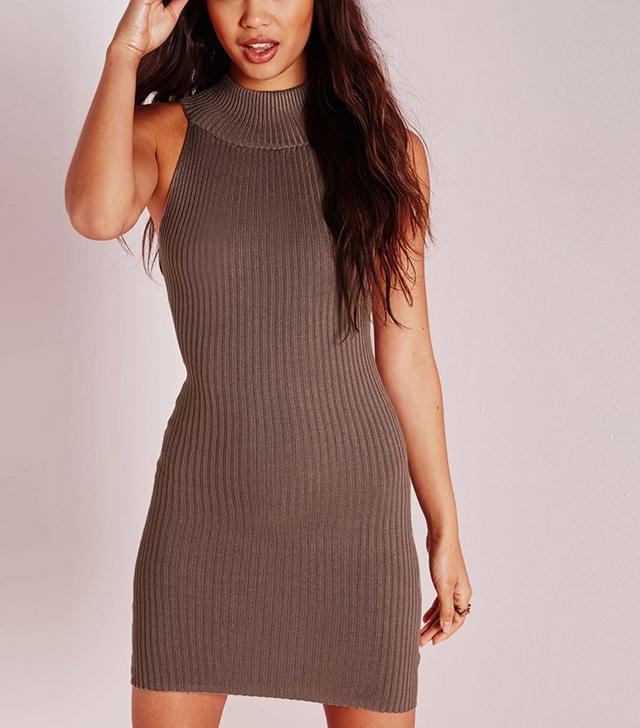 Missguided Cut Away Rib Dress