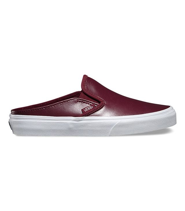 Vans Leather Slip-On Mules