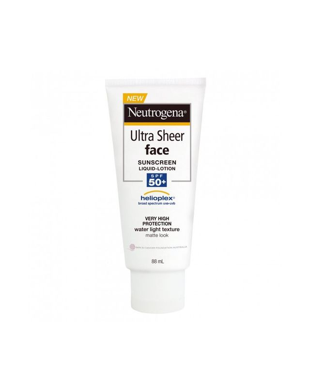 Neutrogena Ultra Sheer Face Sunscreen Lotion SPF50+