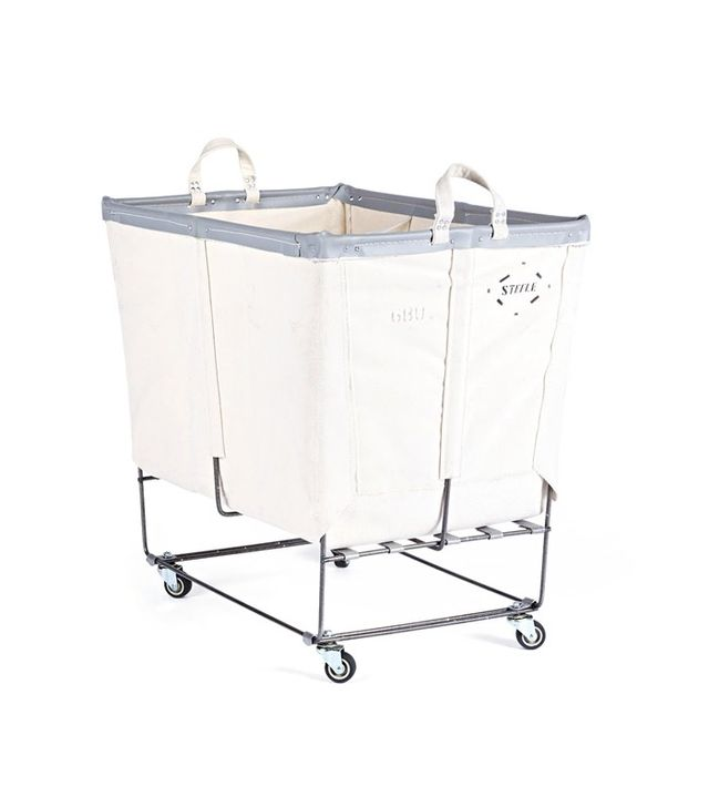 Rejuvenation 6 Bushel Canvas 3-Section Laundry Bun