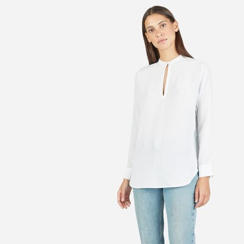 Silk Split Shirt