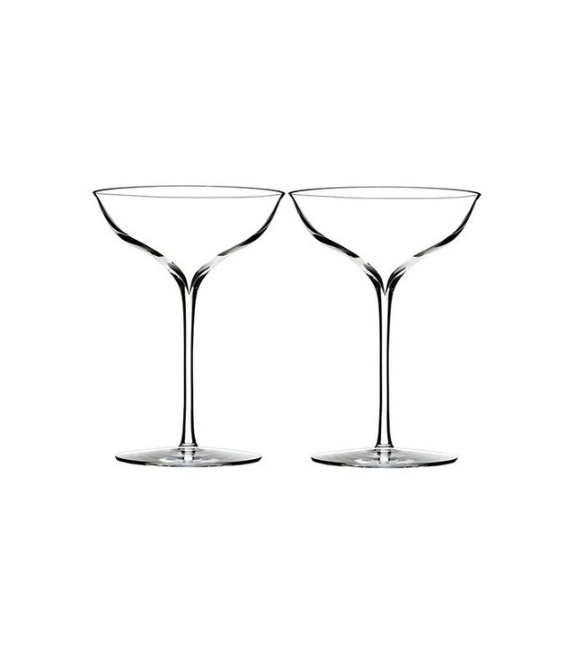 Waterford Elegance Fine Crystal Champagne Coupe Toasting Glasses