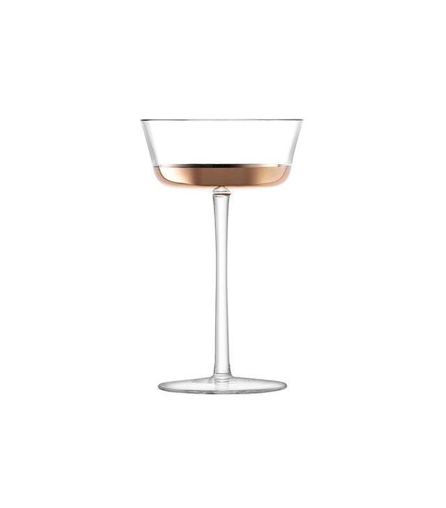 LSA International Edge Champagne Saucer Set