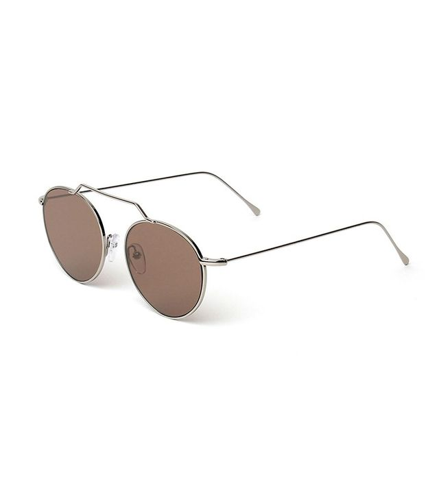 Illesteva Wynwood Round Stainless Steel Sunglasses