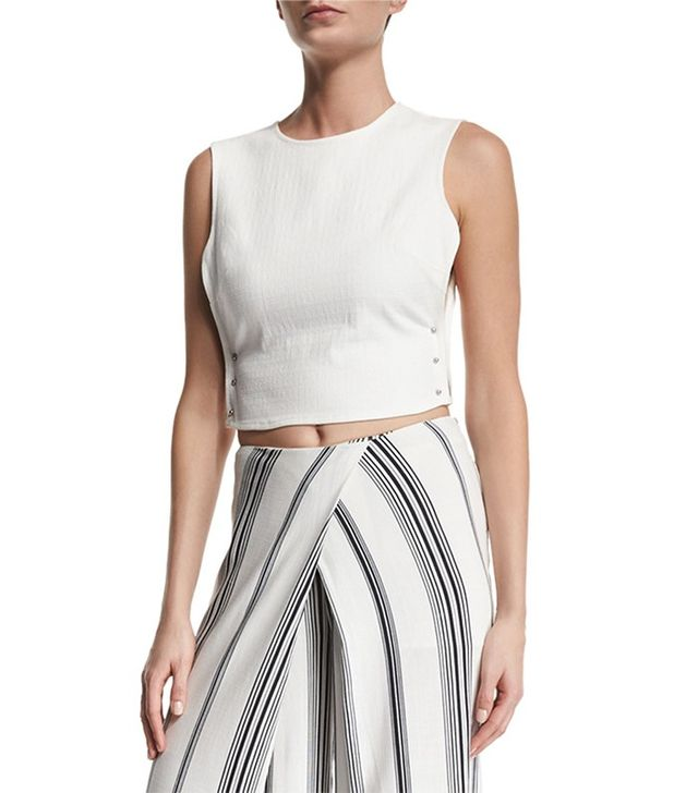 Kendall + Kylie Pierced Open-Side Crop Top