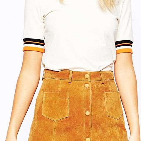 A-Line 70s Suede Skirt