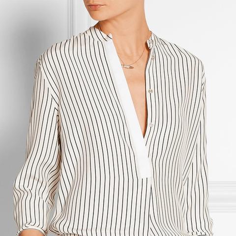 Virginia Striped Silk-Satin Shirt