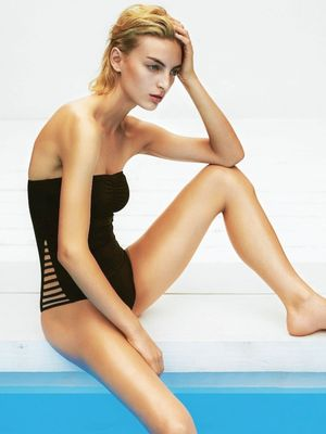 5 Incredibly Chic Black Swimsuits From the Pages of Grazia