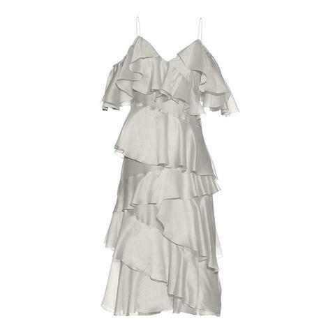 Stealing Beauty Ruffled Crepe Dress