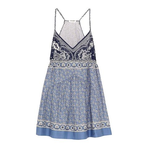 Printed Cotton-Voile Mini Dress