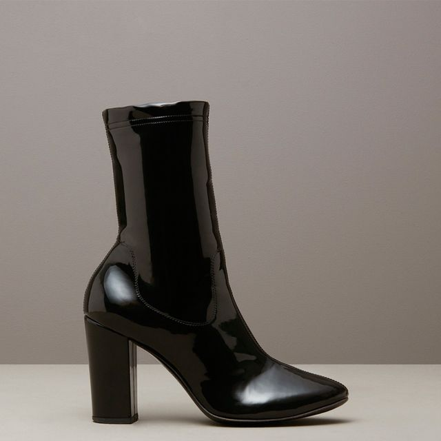 Kenneth Cole Black Label Krystal Patent Leather Boots