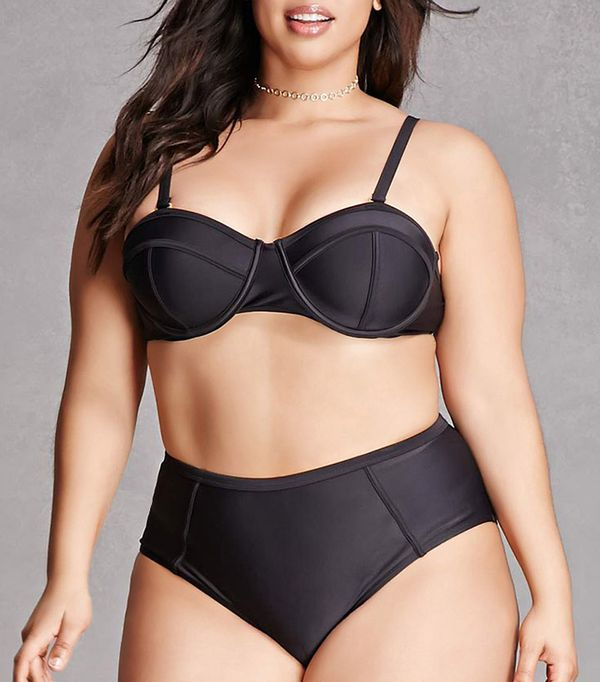 plus size swim suits - Forever 21 Paramour Bikini Top