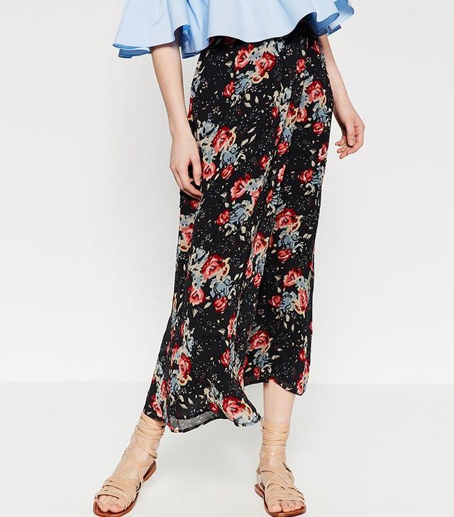 Zara Long Printed Skirt