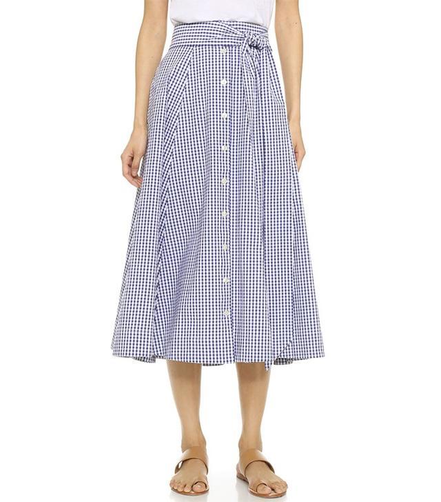 Lisa Marie Fernandez Check Beach Skirt