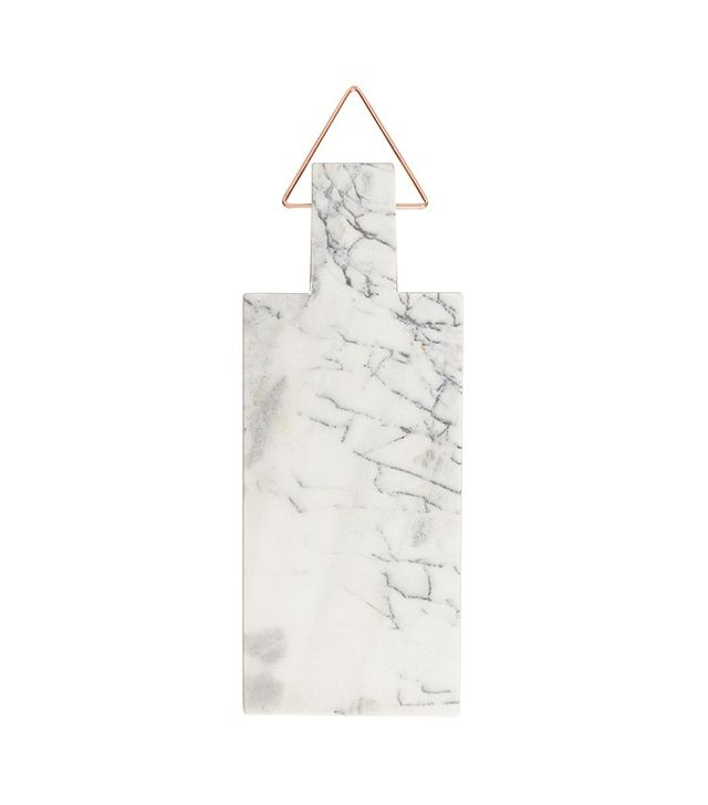 World Market Marble Paddle Cutting Board With Copper Handle