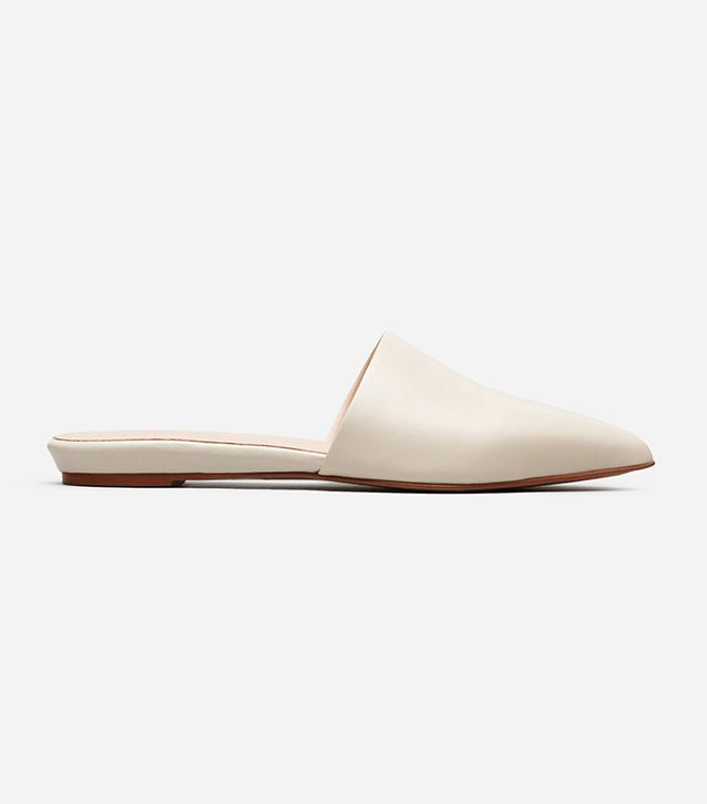 Women's Pointed Slide by Everlane in Bone, Size 6.5