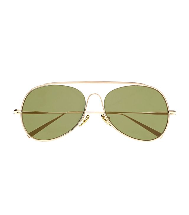 Spitfire Aviator-style Gold-tone Mirrored Sunglasses