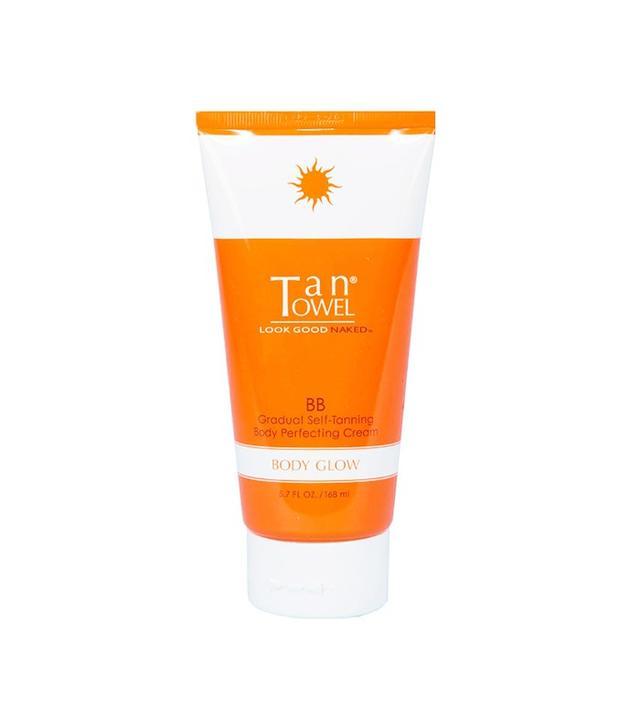 Tan Towel Body Glow BB Gradual Self Tanning Body Perfecting Cream