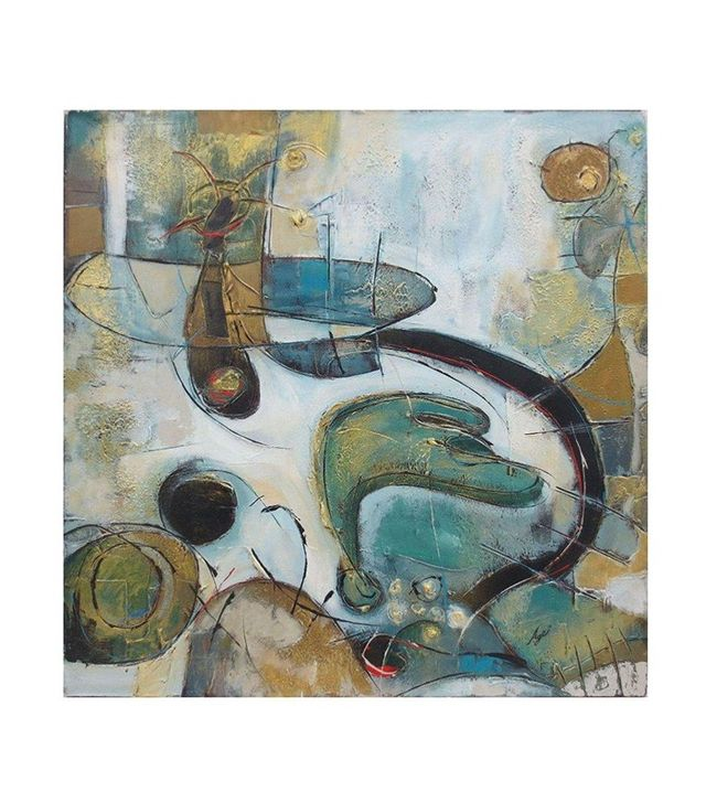 Chairish Antique Canvas Contemporary ABstract Oil Painting