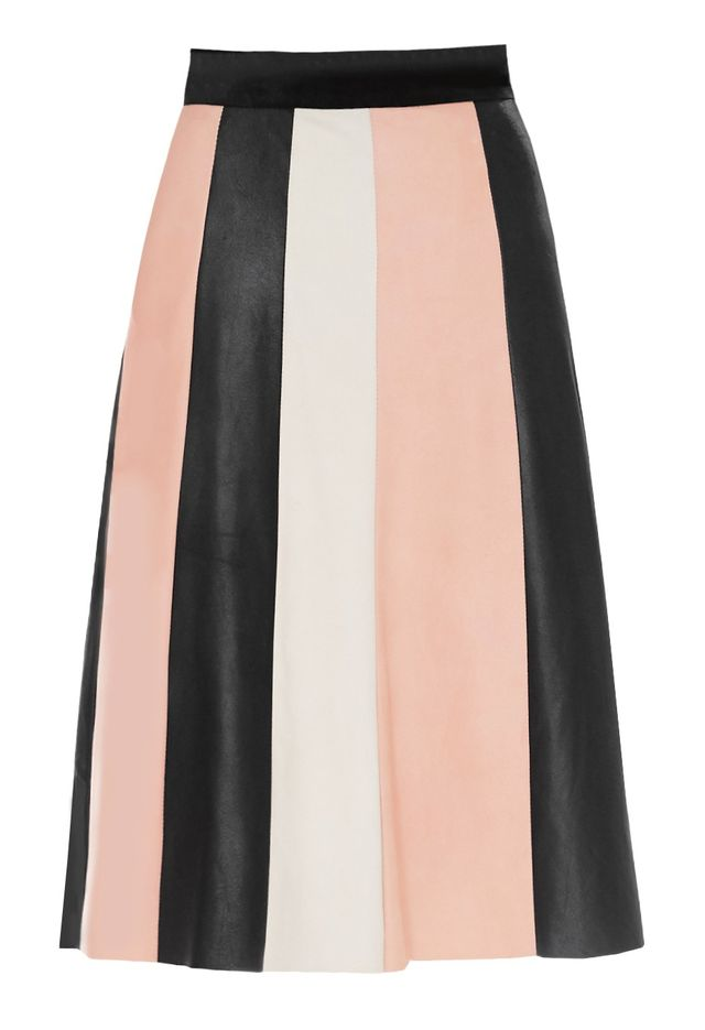 Veda Piano Leather Skirt