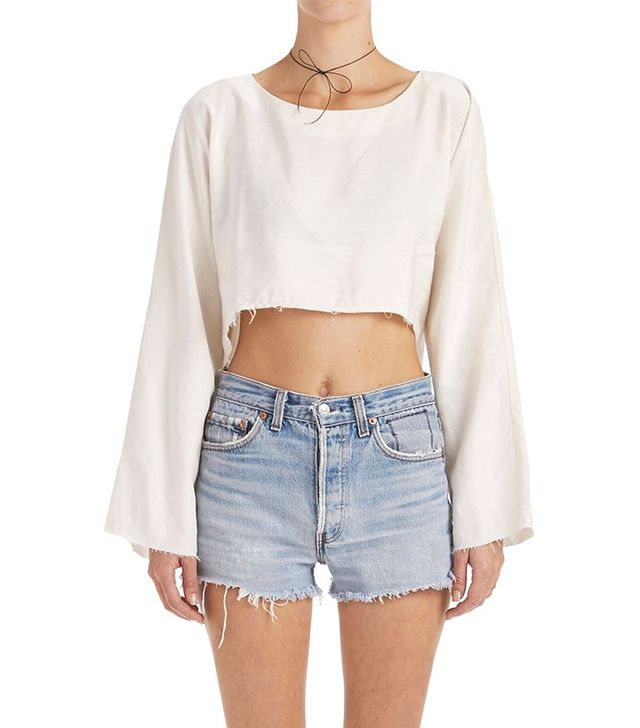 Are You Am I Delphine Cropped Top