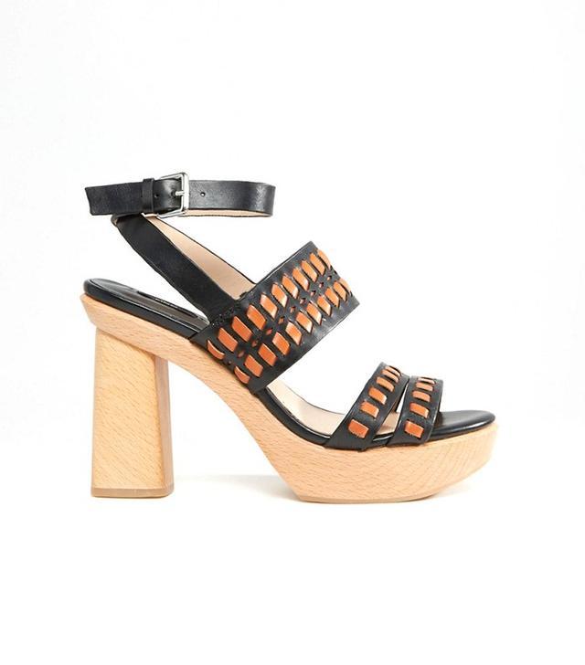 ASOS Mango Wooden Block Heel Sandals