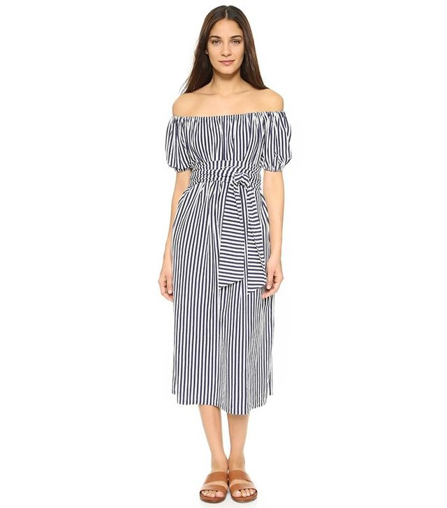 MDS Stripes Marina Off Shoulder Dress