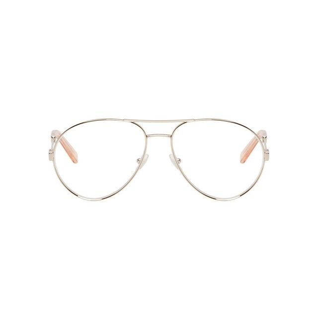 Chloé Gold Rim Aviator Optical Glasses