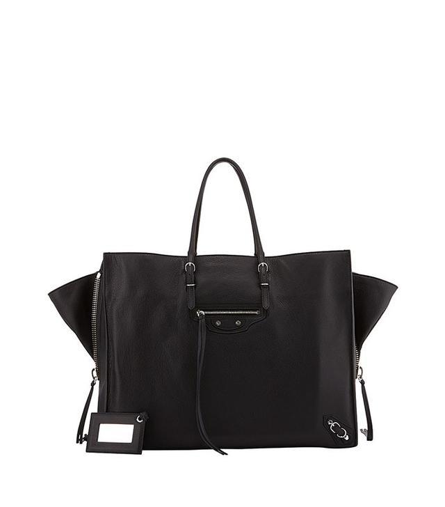 Balenciaga Papier A6 Side Zip Leather Tote Bag
