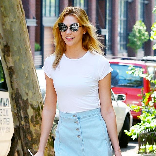 Karlie Kloss Found a New Way to Style a Denim Skirt