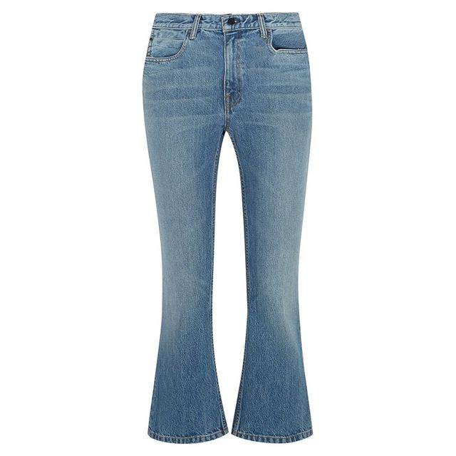 Alexander Wang Cropped Mid Rise Flares