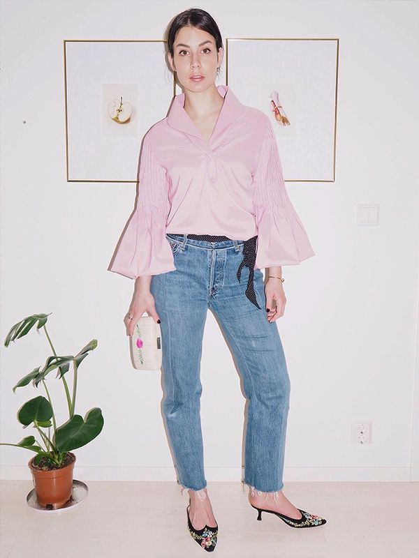 Summer Outfit Idea #5: Wear Evening Heels with Cut-Off Jeans