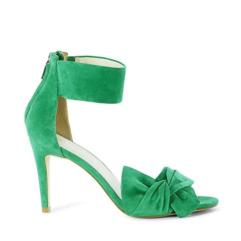 Suede Bow Sandal