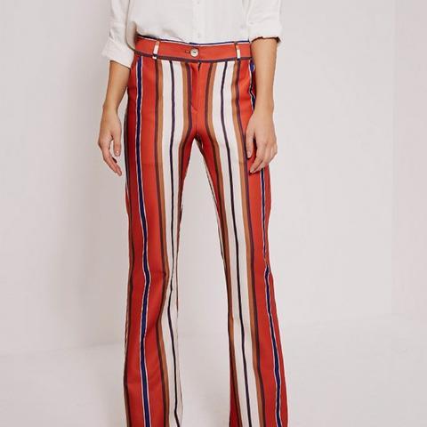 Zadia Orange Stripe Trousers