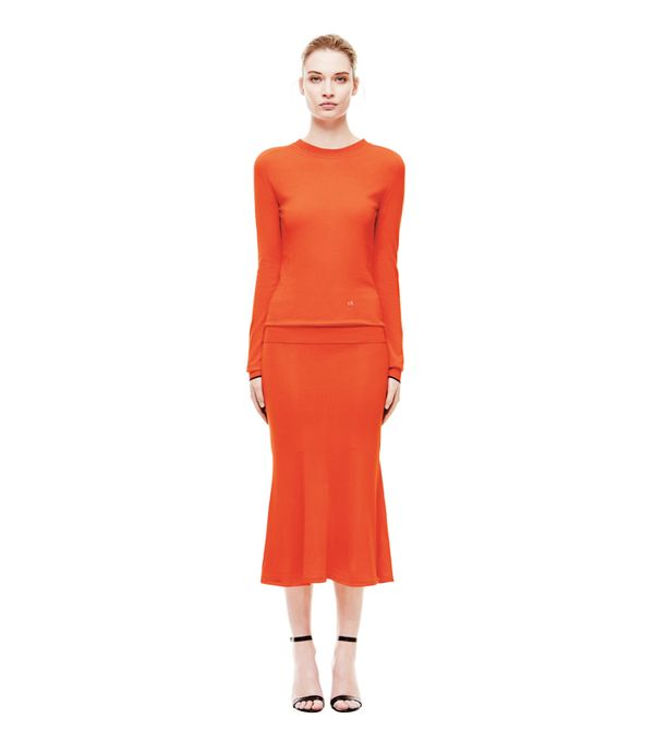 How to look taller: Victoria Beckham Crewneck With Cuff Colour Contrast