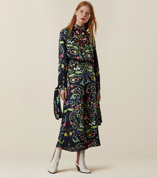 How to look taller: Finery London Hervey Hungarian Floral Culottes