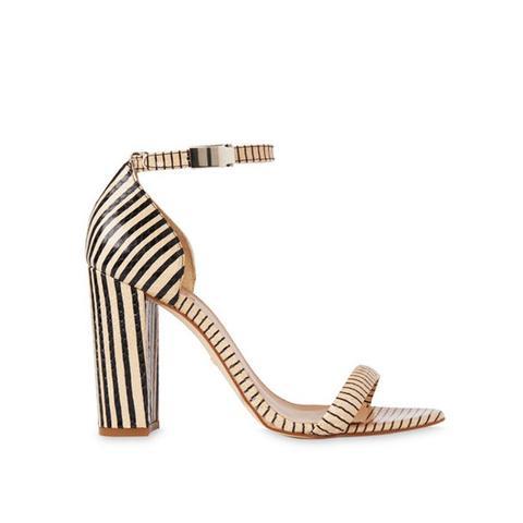 Hyde Stripe Block Heel Sandals