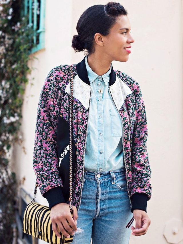 Bomber jacketsplay nicely with the aforementioned California mainstay: denim.